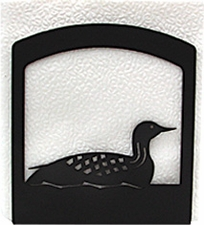 Napkin Holder, Loon, Duck Silhouette, Wrought Iron