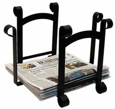 Magazine / Newspaper Rack, Wrought Iron
