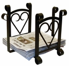 Magazine / Newspaper Rack, Wrought Iron, Heart