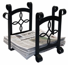 Magazine / Newspaper Rack, Wrought Iron, Torrington