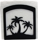 Napkin Holder, Palm Trees Silhouette, Wrought Iron