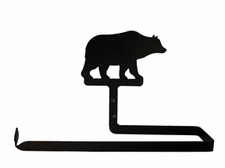 Paper Towel Holder, Bear, Wall Mount, Wrought Iron