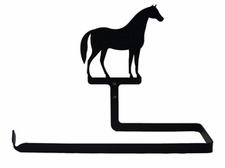 Paper Towel Holder, Horse, Wall Mount, Wrought Iron