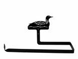Paper Towel Holder, Loon, Duck, Wall Mount, Wrought Iron
