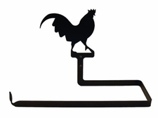 Paper Towel Holder, Rooster, Wall Mount, Wrought Iron