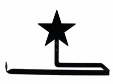 Paper Towel Holder, Star, Wall Mount, Wrought Iron