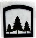 Napkin Holder, Pine Trees Silhouette, Wrought Iron