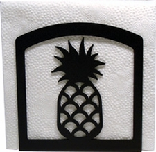 Napkin Holder, Pineapple Silhouette, Wrought Iron