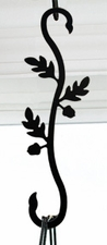 Plant Hanger, Wrought Iron, Acorn, Decorative S-Hook