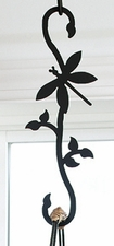 Plant Hanger, Wrought Iron, Dragonfly, Decorative S-Hook