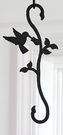 Plant Hanger, Wrought Iron, Hummingbird, Decorative S-Hook