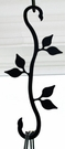 Plant Hanger, Wrought Iron, Leaf, Decorative S-Hook