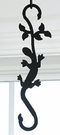 Plant Hanger, Wrought Iron, Salamander, Decorative S-Hook