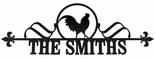 Custom House Plaque / Sign, Rooster, Wrought Iron