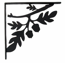 Shelf Brackets, Wrought Iron, Acorn, Large