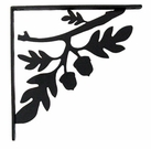 Shelf Brackets, Wrought Iron, Acorn, Medium