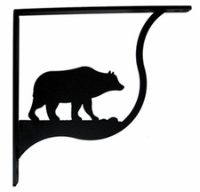 Shelf Brackets, Wrought Iron, Bear, Medium