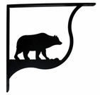 Shelf Brackets, Wrought Iron, Bear, Small