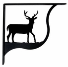 Shelf Brackets, Wrought Iron, Deer, Large