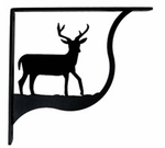 Shelf Brackets, Wrought Iron, Deer, Small