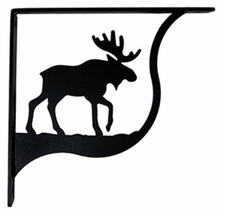 Shelf Brackets, Wrought Iron, Moose, Large