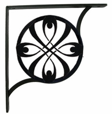 Shelf Brackets, Wrought Iron, Ribbon, Large