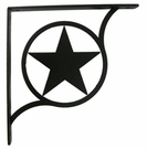 Wrought Iron Shelf Brackets - Star - Medium
