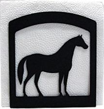 Napkin Holder, Horse Silhouette, Wrought Iron