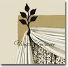 CURTAIN SWAGS, Wrought Iron