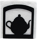 Napkin Holder, Teapot Silhouette, Wrought Iron