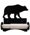 Toilet Tissue / Paper Holder, Bear, Wrought Iron, Roller