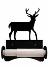 Toilet Tissue / Paper Holder, Deer, Wrought Iron, Roller