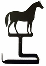 Toilet Tissue / Paper Holder, Horse, Wrought Iron, Traditional