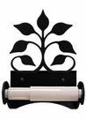Toilet Tissue / Paper Holder, Leaf Fan, Wrought Iron, Roller