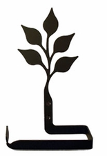 Toilet Tissue / Paper Holder, Leaf, Wrought Iron, Traditional