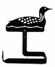 Toilet Tissue / Paper Holder, Loon / Duck, Wrought Iron, Traditional