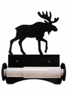 Toilet Tissue / Paper Holder, Moose, Wrought Iron, Roller