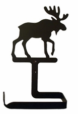 Toilet Tissue / Paper Holder, Moose, Wrought Iron, Traditional