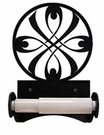 Toilet Tissue / Paper Holder, Ribbon, Wrought Iron, Roller