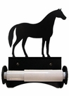 Toilet Tissue / Paper Holder, Horse, Wrought Iron, Roller