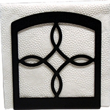 Napkin Holder, Torrington Design, Wrought Iron