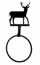 Towel Ring, Deer, Wrought Iron