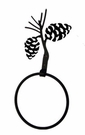 Towel Ring, Pinecones, Wrought Iron