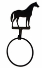 Towel Ring, Horse, Wrought Iron
