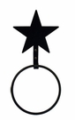 Towel Ring, Star, Wrought Iron