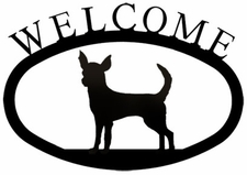 Welcome Sign, Chihuahua, Dog, Wrought Iron