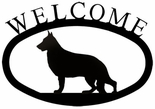 Welcome Sign, House Plaque, German Shepherd, Wrought Iron