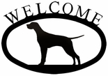 Welcome Sign, House Plaque, Pointer / Dog, Wrought Iron