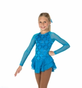 Chain Effect Dress -Turquoise