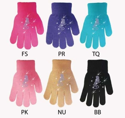 Chloe Noel Gloves GV22 with Crystals